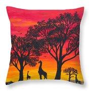 Desert Sunset 2 Throw Pillow