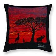 Desert Sunset 3 Throw Pillow