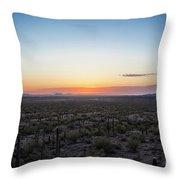 Desert Sunset #5 Throw Pillow