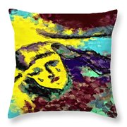 Desert Tears Throw Pillow