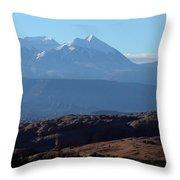 Desert To Mountains Throw Pillow