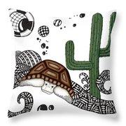 The Desert Tortoise Throw Pillow