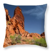 Desert Tower Valley Of Fire Throw Pillow