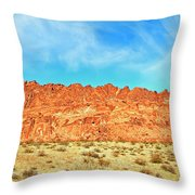 Desert Valley Of Fire Throw Pillow