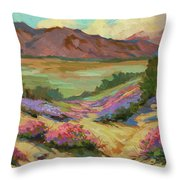 Desert Verbena At Borrego Springs Throw Pillow