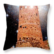 Desert View Tower, Starry Night, Grand Canyon Throw Pillow