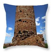 Desert View Watchtower At Grand Canyon Throw Pillow