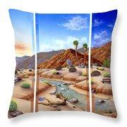 Desert Vista Throw Pillow by Snake Jagger