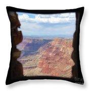 Desert Watchtower View Grand Canyon  Throw Pillow