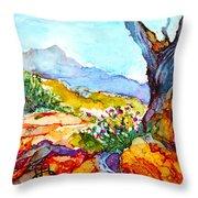 Desert Wildflowers Throw Pillow