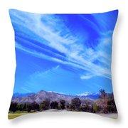 Desert Winter Sky Throw Pillow