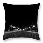 Deserted Bridge Crossing Throw Pillow