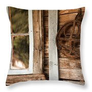Deserted Homestead Throw Pillow
