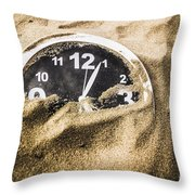 Deserted In Time Throw Pillow