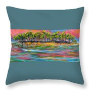 Deserted Island Throw Pillow