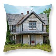 Deserted Oklahoma Farmhouse Throw Pillow