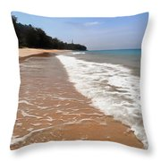 Deserted Shore Of The Island Of Tioman Throw Pillow