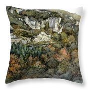 Desfiladero Del Miera Throw Pillow