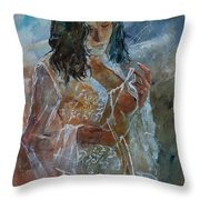 Deshabille 67 Throw Pillow