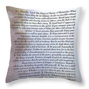 Desiderata 11 Throw Pillow