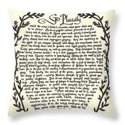 Desiderata 13 Throw Pillow