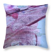 Desiderata 3 Throw Pillow