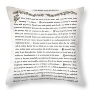 Desiderata 3 Throw Pillow