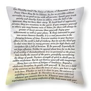 Desiderata 8 Throw Pillow