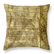 Desiderata #8 Throw Pillow