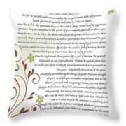 Desiderata Daisy Vines Throw Pillow