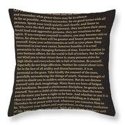 Desiderata Signature Collection Throw Pillow