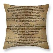 Desiderata Vintage Throw Pillow