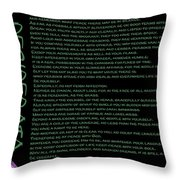 Desiderata 21 Throw Pillow