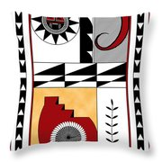 Southwest Collection - Design Five In Red Throw Pillow