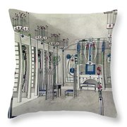 Design For A Music Room With Panels By Margaret Macdonald Mackintosh Throw Pillow