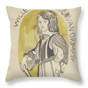Design For A Painting In The Mailboot William II Prince Of Orange, Carel Adolph Lion Cachet, 1874 -  Throw Pillow