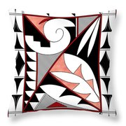 Southwest Collection - Design Four In Red Throw Pillow
