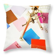 Design In Abstract Geometry Throw Pillow