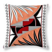 Southwest Collection - Design Three In Red Throw Pillow