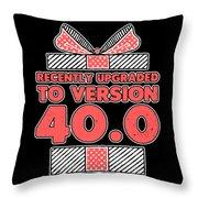 designcandy180418RecentlyUpgradedToVersion404 Throw Pillow