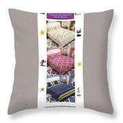 Designer Bed Sheet To Decor Home Throw Pillow