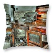 Desk Or Typewriter Throw Pillow