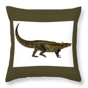Desmatosuchus Profile Throw Pillow