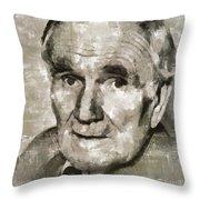 Desmond Llewelyn, Actor Throw Pillow