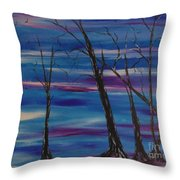 Desolate Land Throw Pillow