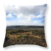 Desolate Lava Field Throw Pillow
