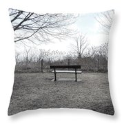 Come Sit A While Throw Pillow