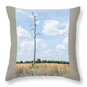 Desolate Tree Throw Pillow