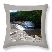 Desoto Falls In Alabama Throw Pillow