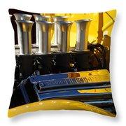 Desoto Firedome Eight Engine Throw Pillow